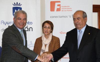 La Asociación de Asesores Fiscales de Canarias, el Ayuntamiento de Mogán y la Fundación Universitaria de Las Palmas (FULP) firman un acuerdo de colaboración para la realización del 'Curso universitario de gestión tributaria local y recaudación'