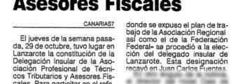 Se constituye la Delegación Insular en Lanzarote