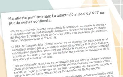 Manifiesto por Canarias: La adaptación fiscal del REF no puede seguir confinada.