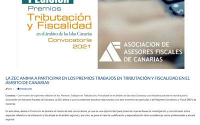 La ZEC anima a participar en los Premios Trabajos en Tributación y Fiscalidad en el ámbito de Canarias