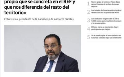 Canarias tiene un fuero fiscal propio que se concreta en el REF y que nos diferencia del resto del territorio