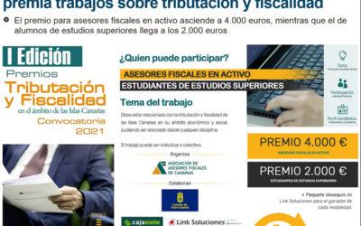 La Asociación de Asesores Fiscales de Canarias premia trabajos sobre tributación y fiscalidad