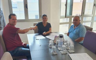La Asociación de Asesores Fiscales de Canarias (AAFC) y el Ilustre Colegio Oficial de Graduados Sociales de Lanzarote  firman un convenio de colaboración en materia formativa.